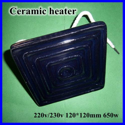 Ceramic Heater Board 120*120MM 220V/230V 650W Black Flat Top Upper Infrared Ceramic Heating Plate For BGA Station heater heating(China (Mainland))