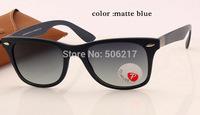 100%UV original box case men women brand wayfarer polarized sunglasses liteforce 4195 6015/8G matte blue /w gradient grey 52mm