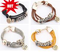 Faux Leather Woven Bracelet Black / Grey / Brown / Yellow Twist Bracelet Statement Bracelet & Bangle cxt903939