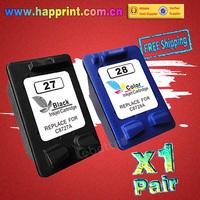 Ink Inkjet Cartridge for hp 27 28 C8727AN C8728AN for hp Fax 1240 Deskjet 3420 3520 3550 3650 3740 3745 3845 1311...(1Pair=2PK)