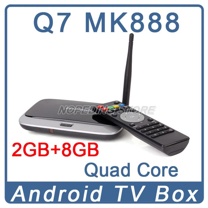 Q7 Android tv box Quad Core CS918 T-R42 K-R42 MK888 MK888B MK918 Android 4.2 RK3188 T Cortex-A9 TV BOX HDMI Player 2G/8G Antenna(China (Mainland))