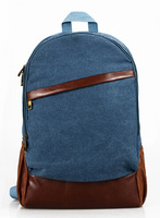 Free Shipping 2014 New Arrivals Middle School Students School Bags Book Vintage Black / Jeans Blue Canvas Rucksack Men Women