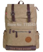 Brand 2014 HOT Selling Casual Color Block Women Men's Backpacks Large Capacity Canvas Rucksack School Backpack for Teenagers