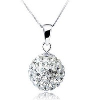 Fashion  Crystal   silver necklace factory price jewelry wholesales  for women