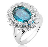 CR17 mineral crystal fashion ring factory price jewelry wholesales  for women  B8