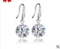 Fashion Austria Crystal  mineral  silver earrings factory price jewelry wholesales  for women  B3