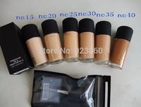 1 Pieces New Top quanlity  Liquid Foundation Fond De Teint SPF15 30ml(NC:15 20 25 30 35 40)! Free shipping HK Post