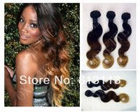 Oxette ombre hair extensions #1b #4 #27 3 tone Malaysian virgin ombre hair weave extension 3 or 4 bundles