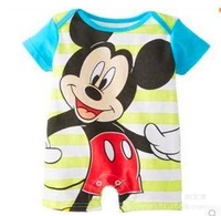 new spring 2014 baby bodysuits short  sleeve minnie/mickey mouse/bear overall newborn bebe baby clothes clothing set