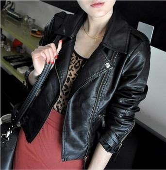 2014 весной и осенью женщин ПУ мотоцикл одежды женщин короткий тонкий дизайн кожаная ...