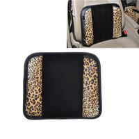 RUICH Free Shipping Leopard Leather Car Soft Memory Foam Lumbar Back Cushion Pillow Back Support