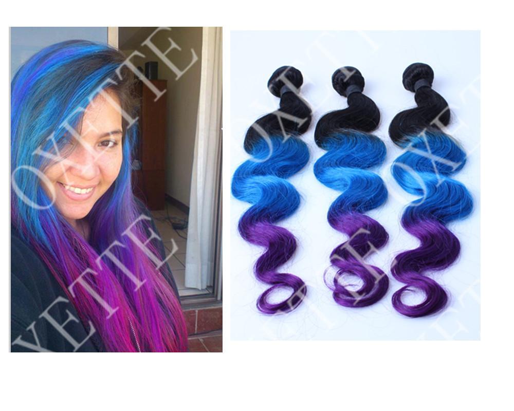 Red Purple Ombre Hair Oxette brazilian virgin hair