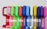 Wholesale - 100pcs/lot Square Silicone Nurse Medical Watch With Pin High Quality 12 mix  colors