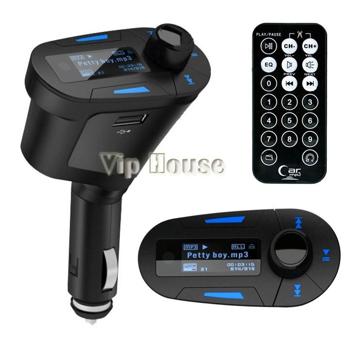 Big Promotion!! Car MP3 Player Wireless FM Transmitter Modulator USB SD MMC LCD With Remote SV000029(China (Mainland))