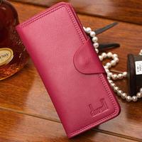 Free shipping!Women's long genuine leather wallet 5 colors women's wallet card holder wallet women's handbag
