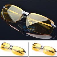 New Men's Polarized Sunglasses Yellow Lens Night Vision Driving Glasses Goggles Reduce Glare 19865