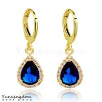 Dropship Free shipping 18K Rose Gold Filled Fashion Design Elegant Cubic zirconia pop Lady Women Earrings Dangler Jewelry CZ0338