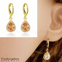Dropship Free shipping18K Rose Gold Filled Fashion Design Beautiful Cubic zirconia Lady Women Earrings Dangler Jewelry CZ0335