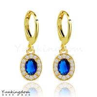 Dropship Free shipping 18K Rose Gold Filled Fashion Design Cubic zirconia Romantic Lady Women Earrings Dangler Jewelry CZ0332