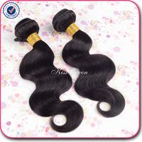 6A grade unprocessed brazilian virgin hair body wave 2 pcs lot free shipping brazilian body wave virgin hair human hair weave