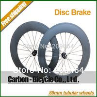 New product! Disc brake road 88mm tubular bicycle wheels 700c carbon fiber disc brake road bike racing wheelset