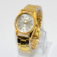 Free Shipping New 2014 Fashion Casual Luxury Wristwatch Women Alloy Band Gold Watches Quartz Watch Lady Women's Dress Watches