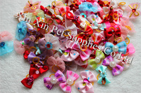 2014 New Mix Design Varies On Sale dog bows pet hair bows for Festival Holidays dog hair accessories grooming products Cute Gift
