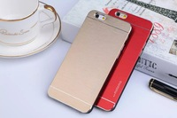 Brushed MOTOMO Slim Armor Aluminum Metal Hard Case For iphone 6 4.7'' / Plus 5.5'' Wiredrawing Alloy Skin Chrome Cover 50pcs