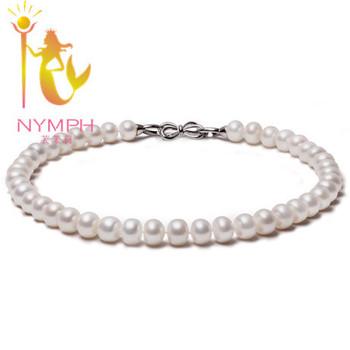 Нимфа 100% натуральный жемчужное ожерелье, 11 - 12 мм большой пресноводный жемчуг, ...