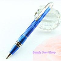 Free Shipping Mont Ballpoint Pen Signature Touch Blue Ballpoint Pens Top Quality Best Design Clip Gloss diamond star twist