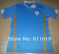 Free shipping Uruguay home blue World cup jersey 2014 high quality thai version player version soccer jersey