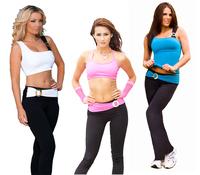 2014 Yoga Sport Gym San Paolo Elastic Women's Long Leggings Full Length W Buckle Patchwork Fabric Belt wrap the waist. Presell