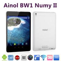"Original 7.85"" Ainol BW1 Numy Hongnuomi II 2 MTK8382 Quad Core 3G Tablet PC Dual SIM Card Dual Camera Phone Call 16GB GPS OTG"