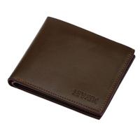 Business fashion black men wallet good leather short 2 fold brief Credit card wallets Wholesale