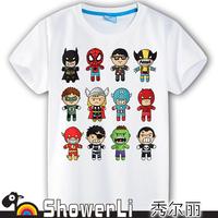 Cotton short sleeve children t shirts, cute cartoon t-shirt,anime cartoon game boys girls t-shirt figure kids wear super hero