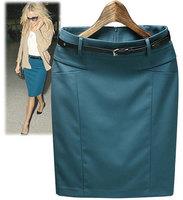New High Waist Women's Bust Skirt Fashion Solid Above Knee Straight Short Work Skirts Girls Saia Femininas 2014