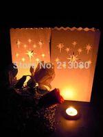 30pcs/3packs X  Star Luminaria Paper Lantern Candle Bag Holder For Xmas BBQ Beach Ball Party Wedding Free shipping