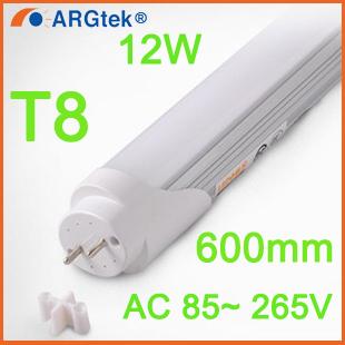 2PCS/lot LEDTube T8 600mm 12W AC85V-265V LED Lamps LED Light 2835SMD lights & lighting Cold White/Warm White Living Room Bedroom(China (Mainland))