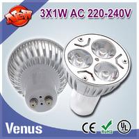 100% quality assurance GU10 3w warm/cold white indoor lighting cob bulb 5pcs/lot E27 B22 GU10 GU5.3 E14 MR16 free shipping