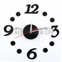 1pcs Fashion DIY Self Adhesive Room home Interior Decoration Digit Dot Number Wall Clock