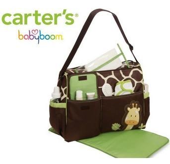 Free shipping new Carter's 2014 mummy nappy bag cartoon diaper bags baby 3Pcs tote(China (Mainland))