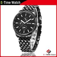 SINOBI Brand Men Full Steel Watches Fashion Business Wristwatch for Men Sport Quartz Watch Military Watches MN016