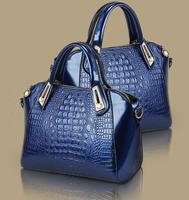 New Crocodile style feeling bags women 2014 elegant handbag women leather tote bag in shoulder  brand fashion bag Sfactory sale