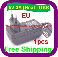 1 pcs Free Shipping EU plug 5v 3000mA usb charger for Ainol novo 9 Hero II Spark Firewire quad tablet pc sanei n10 3g