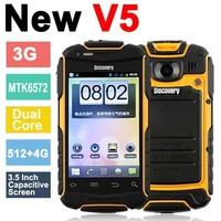 Discovery V5+ Phone IP67 Waterproof Dustproof Shockproof 3.5 inch Screen Dual Core CPU GPS WIF 3G Phone Russia Polski Free Ship