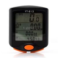 3pcs/Lot Wholesale Waterproof Black LED Display Bicycle Speedometer Bike Computer 24 Functions Cycling Odometer 15445