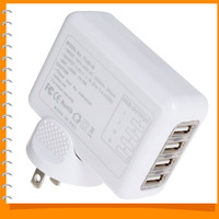 2.1A 4 Four Port Universal Mobile Phone USB Wall Charger AC Travel Plug Adapter for iPad iPhone Samsung ( US UK EU AU Optional )