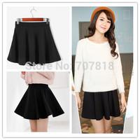 Free Shipping!2014 Fashion Sundress. Knitting Mini Skirts,Spring Skirt,Pleated Skirt,Stretch Waist Flared Short Skirts