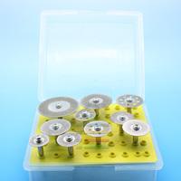 10pc Diamond Saw Cut Off Discs Wheel Blades  Rotary Tool Set 1/8 Shank for Dremel