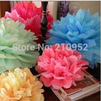 Free Shipping 45pcs mixed (10CM,15CM,20CM) Tissue Paper Pom Poms Wedding/Party/Birthday/Baby shower/Nursery  decoration